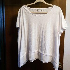 CATO White shirt with shark bite hem